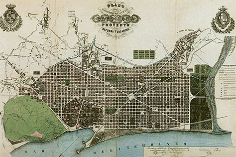 Ildefons Cerda's Master Plan for Barcelona