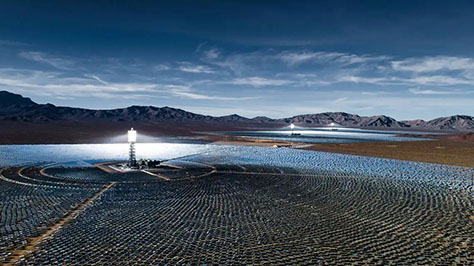 Ivanpah Solar Electrical Generating System in the Mojave Desert of California