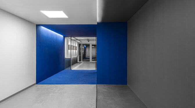BlueCube Office Gallery / Darkefaza Design Studio