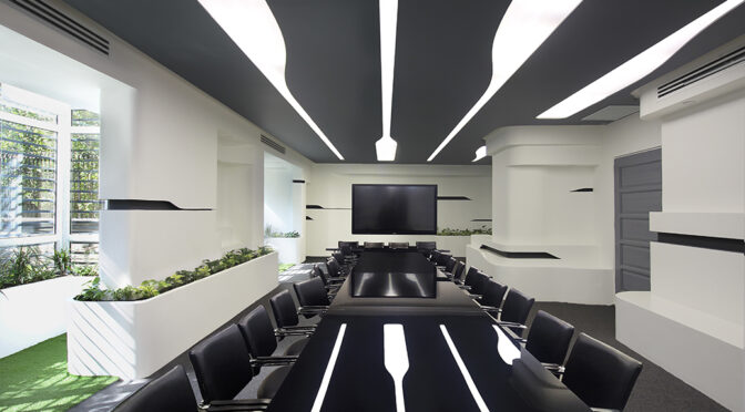 Badr Tech Electric Company's Conference Hall Renovation / Hasht Architects